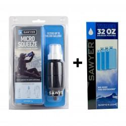 Sawyer Micro Squeeze SP2129 + 3 x 1 Ltr. Trinkbeutel SP113