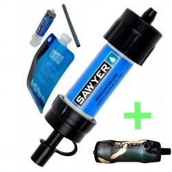 Vorteilspack: Sawyer MINI Wasserfilter + Camouflage Wärmeschutzhülle