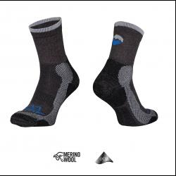 Trekkingsocken Tashev Trekking Light aus Thermocool und Bavlna Active Cotton (Schwarz-Grau & Blau)