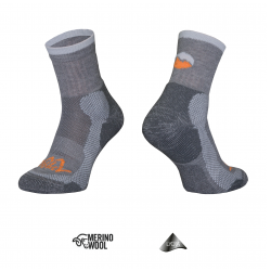 Trekkingsocken Tashev Trekking Light aus Thermocool und Bavlna Active Cotton (Grau & Orange)